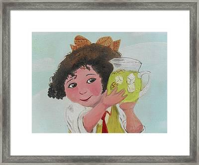 Girls With Lemonade Framed Print by M Valeriano