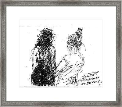 Girls Framed Print by Ylli Haruni