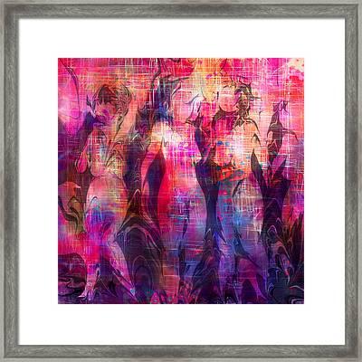 Girltalk Framed Print by Rachel Christine Nowicki