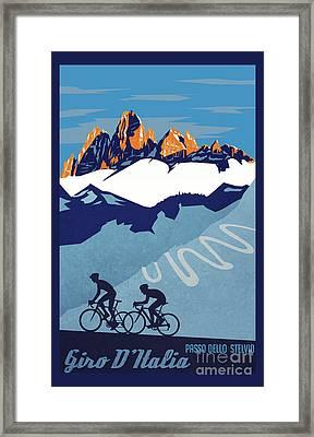 Giro D'italia Cycling Poster Framed Print