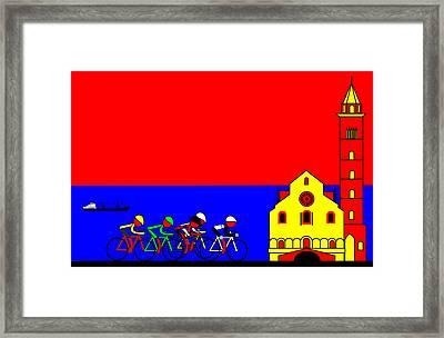 Giro In Trevi Framed Print by Asbjorn Lonvig