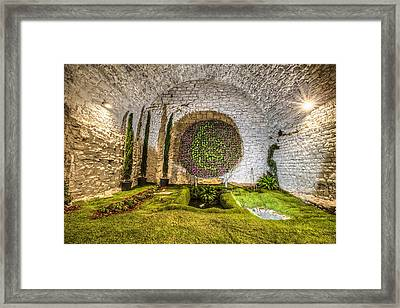 Girona Cathedral Basement In Catalonia Framed Print