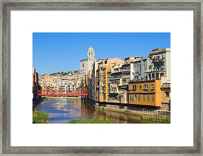 Girona Old Town. Spain.  Framed Print