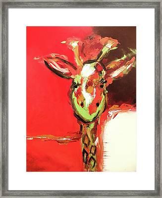 Giselle The Giraffe Framed Print