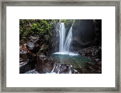 Git Git Waterfall - Bali Framed Print