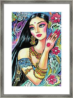 Framed Print featuring the painting Gita by Eva Campbell