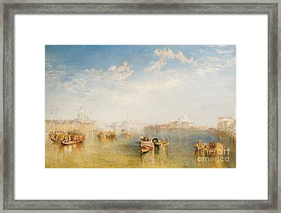 Giudecca La Donna Della Salute And San Giorgio  Framed Print by Joseph Mallord William Turner