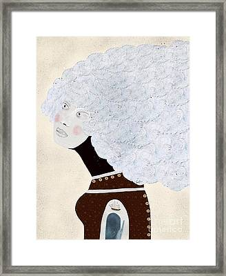 Framed Print featuring the painting Giulia by Bri B