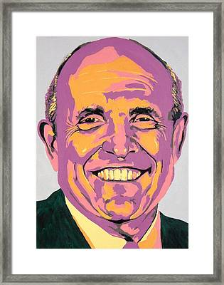 Giuliani Framed Print by Dennis McCann