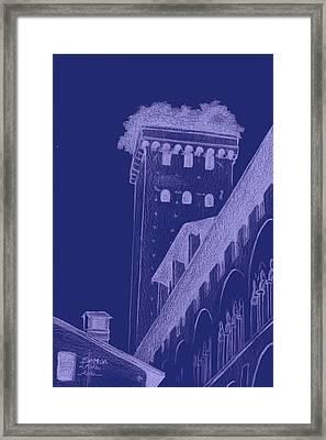 giunigi's tower in Lucca Framed Print by Samoa Landi