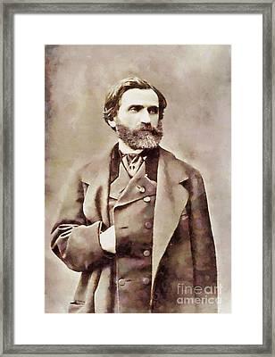 Giuseppe Verdi, Composer By Sarah Kirk Framed Print by Sarah Kirk