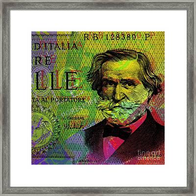 Giuseppe Verdi Portrait Banknote Framed Print