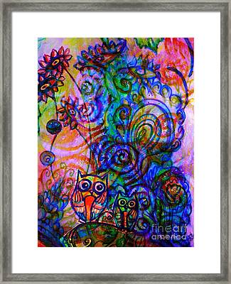 Give A Whoot In This Crazy Wild World Framed Print by Kimberlee Baxter