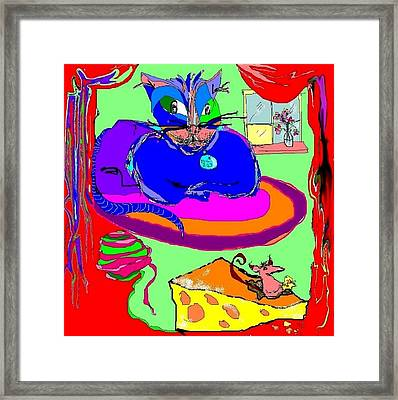 Give Cheese A Chance Framed Print by Barbara Jean Lloyd