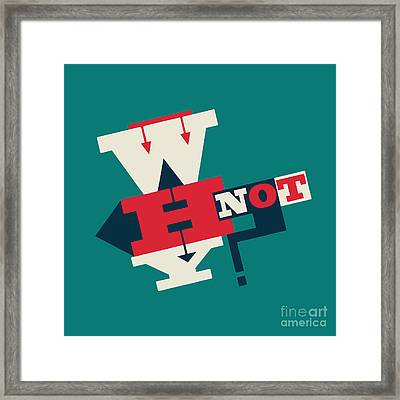 Give It A Try Framed Print