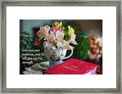 Give It To God Framed Print by Patti Whitten