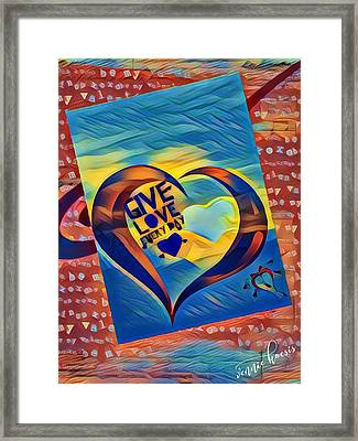 Give Love Framed Print
