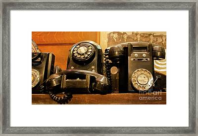 Give Me A Call Sometime Framed Print