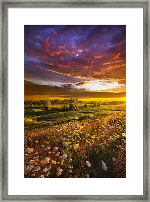 Give Me A Reason To Believe Framed Print by Phil Koch