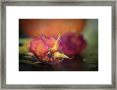 Give Me The Roses While I Live Framed Print