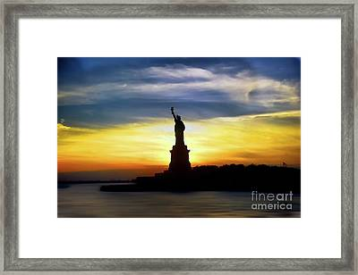 Give Me Your Tired Your Poor Your Huddled Masses Yearning To Breathe Free Framed Print