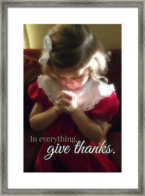 Give Thanks Color Framed Print