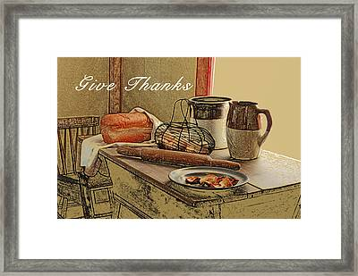 Give Thanks Framed Print by Michael Peychich