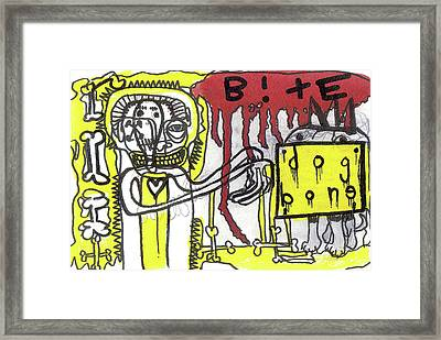Give The Dog A Bone Framed Print by Robert Wolverton Jr