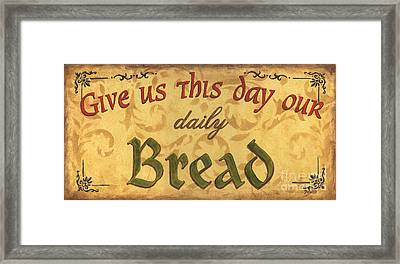 Give Us This Day Framed Print by Debbie DeWitt