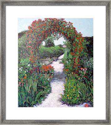 Giverney Garden Path Framed Print by Tom Roderick