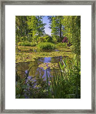 Framed Print featuring the photograph Giverny France - Claude Monet's Pond  by Allen Sheffield