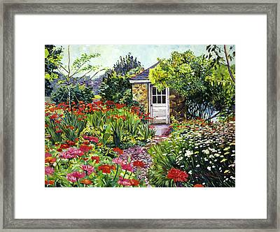 Giverny Gardeners House Framed Print by David Lloyd Glover