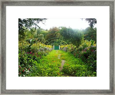 Giverny II Framed Print by Wendy Uvino