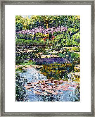 Giverny Reflections Framed Print by David Lloyd Glover