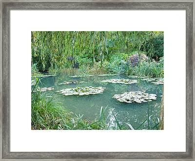 Giverny V Framed Print by Wendy Uvino