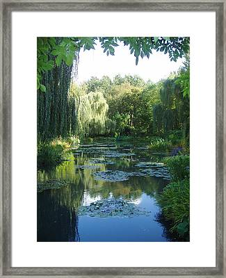 Giverny Vii Framed Print by Wendy Uvino