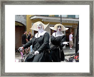 Givin Nun Gettin Nun Framed Print