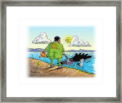 Giving Back To The Environment Framed Print by Anthony Mwangi