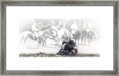 Giving Comfort Framed Print by Wes and Dotty Weber