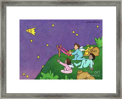 Giving Wishes Wings Framed Print by Sarah Batalka