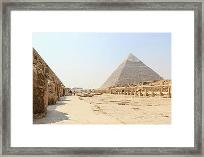Framed Print featuring the photograph Giza by Silvia Bruno
