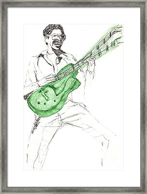 Gj Guitar  Framed Print