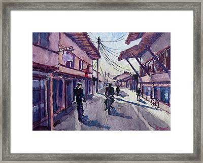 Framed Print featuring the painting Gjakova by Geni Gorani
