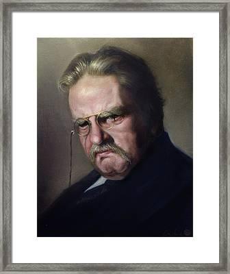 G.k. Chesterton Framed Print by Eric  Armusik
