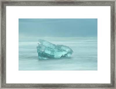 Glacial Iceberg Seascape. Framed Print