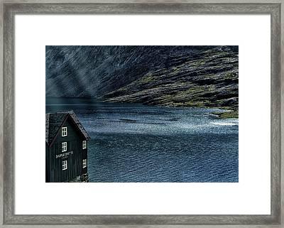 Glacial Lake Framed Print by Jim Hill