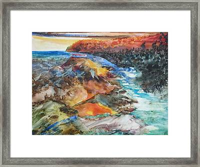 Glacial Meltdown Framed Print by Ruth Kamenev