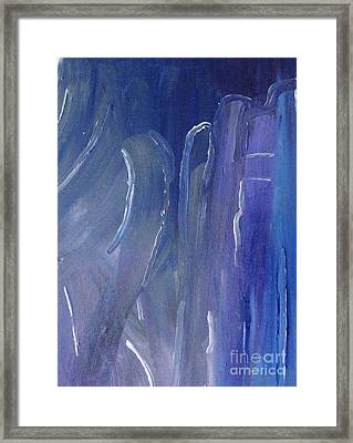 Glacial Peaks Framed Print by Shelly Wiseberg