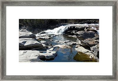 Glacial Potholes At Shelburne Falls  Framed Print