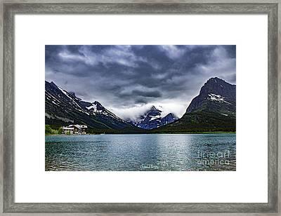 Glacial Getaway Framed Print